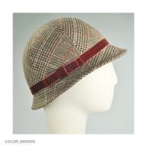 Plaid Cloche Hat