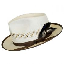 Viceroy Vent Shantung Straw Fedora Hat in
