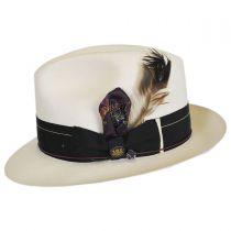 1917 Extra Fine Shantung Straw Fedora Hat in