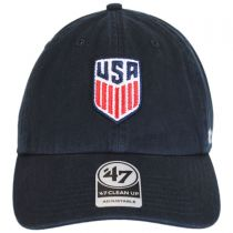 US Soccer Clean Up Strapback Baseball Cap Dad Hat in