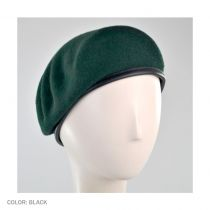Wool Military Beret with Lambskin Band alternate view 120