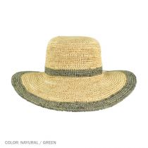 Margate Raffia Straw Floppy Sun Hat alternate view 12