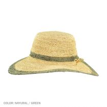Margate Raffia Straw Floppy Sun Hat alternate view 13