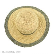Margate Raffia Straw Floppy Sun Hat alternate view 14