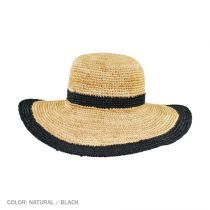 Margate Raffia Straw Floppy Sun Hat alternate view 2