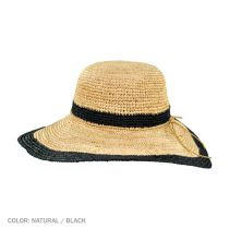 Margate Raffia Straw Floppy Sun Hat alternate view 3