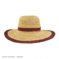 Margate Raffia Straw Floppy Sun Hat alternate view 7