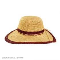 Margate Raffia Straw Floppy Sun Hat alternate view 8