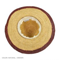 Margate Raffia Straw Floppy Sun Hat alternate view 10