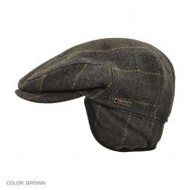 Wool/Cashmere Plaid Ivy Cap with Earflaps