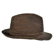 Abaka Crochet Raffia Straw Fedora Hat alternate view 2