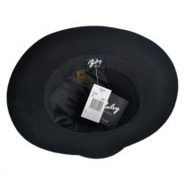 Antone Fur Felt Open Crown Fedora Hat in