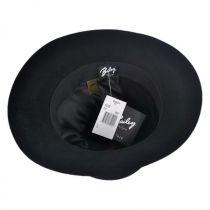 Antone Fur Felt Open Crown Fedora Hat in