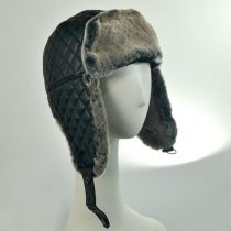 Dorsey Leather Trapper Hat in