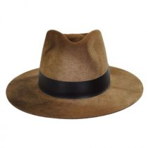 Hillman Wool Felt and Leather Fedora Hat in