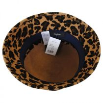 Leopard Wool Felt Cloche Hat in