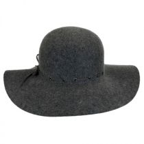 Laced Suede Band Wool Felt Floppy Hat in