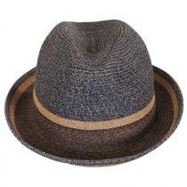 Grimet Toyo Braid Straw Trilby Fedora Hat alternate view 2