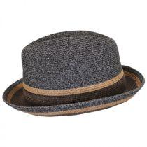 Grimet Toyo Braid Straw Trilby Fedora Hat alternate view 3