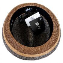 Grimet Toyo Braid Straw Trilby Fedora Hat in