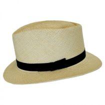 Rincon Panama Straw Diamond Crown Fedora Hat alternate view 3