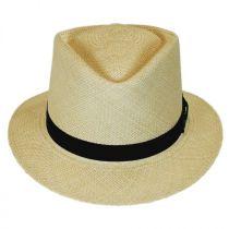 Rincon Panama Straw Diamond Crown Fedora Hat alternate view 6