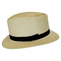 Rincon Panama Straw Diamond Crown Fedora Hat alternate view 7