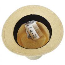 Rincon Panama Straw Diamond Crown Fedora Hat alternate view 8