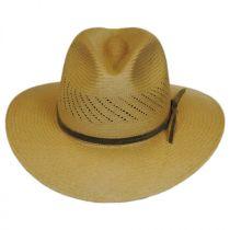 Tucson Vent Panama Straw Fedora Hat alternate view 2