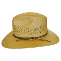 Tucson Vent Panama Straw Fedora Hat in