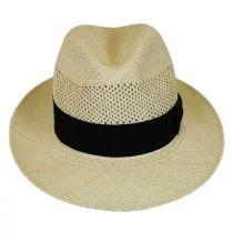 Groff Vent Panama Straw Fedora Hat alternate view 2