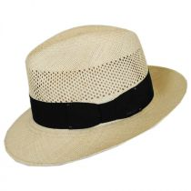 Groff Vent Panama Straw Fedora Hat alternate view 3
