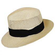 Groff Vent Panama Straw Fedora Hat in