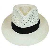 Alfer Vent Panama Straw Fedora Hat in