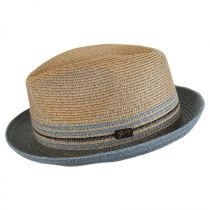 Hooper Toyo Straw Blend Trilby Fedora Hat in