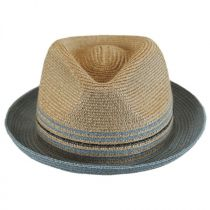 Hooper Toyo Straw Blend Trilby Fedora Hat in