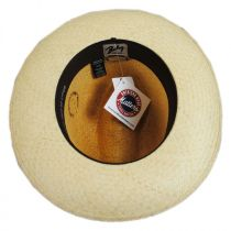 Woods Panama Straw Two-Tone Fedora Hat in