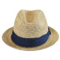 Romeo Raffia Straw Blend Trilby Fedora Hat alternate view 2