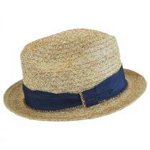 Romeo Raffia Straw Blend Trilby Fedora Hat alternate view 8
