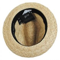 Romeo Raffia Straw Blend Trilby Fedora Hat alternate view 14