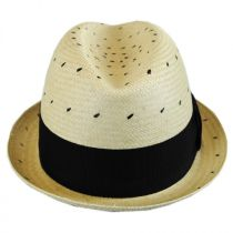 Tor Short Panama Straw Trilby Fedora Hat in