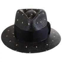 Tor Panama Straw Tear Drop Fedora Hat in