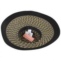Audrey Toyo Straw Blend Downbrim Hat in