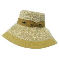 Audrey Toyo Straw Blend Downbrim Hat alternate view 7