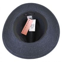 Tia Vent Crown Toyo Straw Fedora Hat in