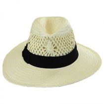 Monaco Toyo Straw Fedora Hat alternate view 2
