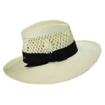 Monaco Toyo Straw Fedora Hat alternate view 3