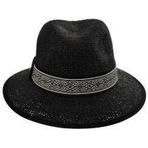 Jacquard Band Toyo Straw Fedora Hat in
