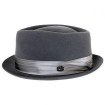 Myers Wool Felt Diamond Crown Fedora Hat in