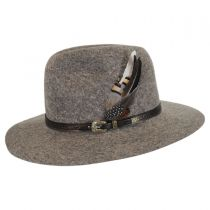 Messenger Wool Felt Safari Fedora Hat in